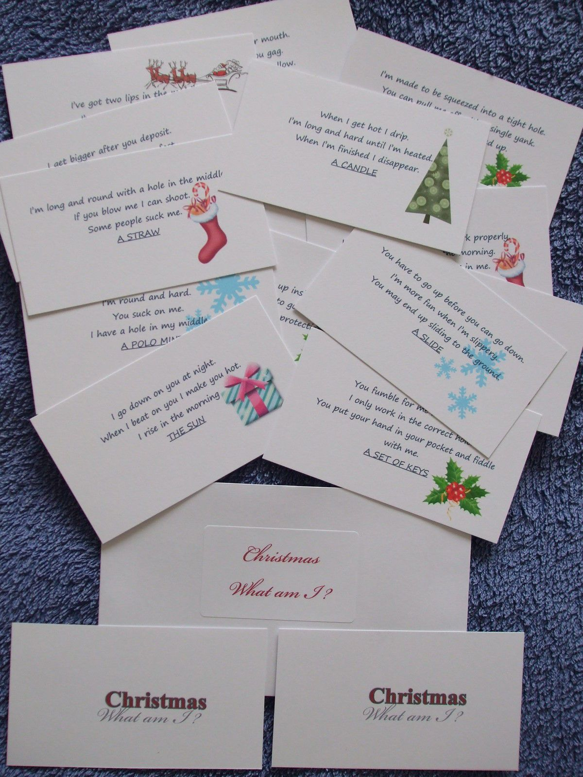 What Am I X 20 Cardsristmas Quiz Party Game Xmas