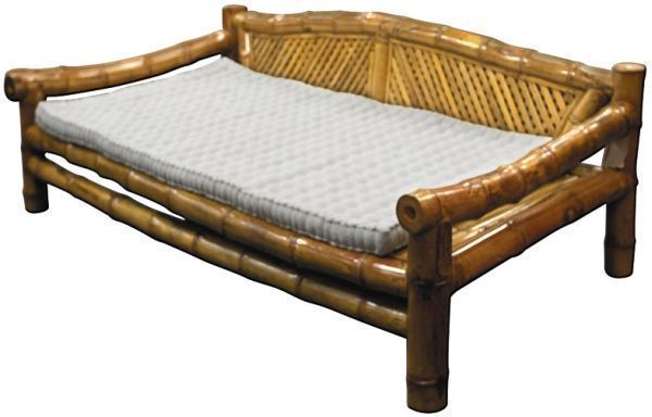 For the courtyard...Bamboo Daybed With Cream mattress : Perth Furniture