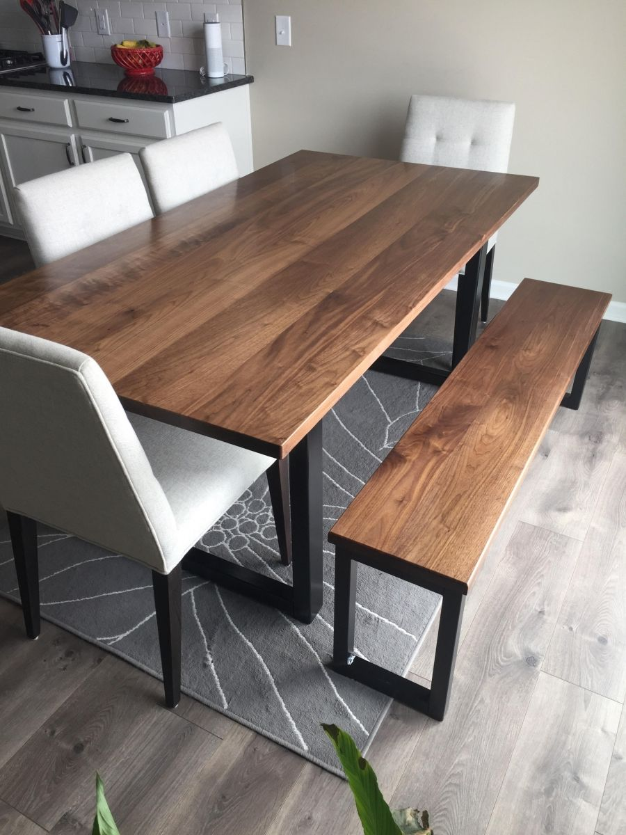 Walnut Dining Table And Bench 1 Walnut Dining Table Modern Dining Room Dinning Table With Bench