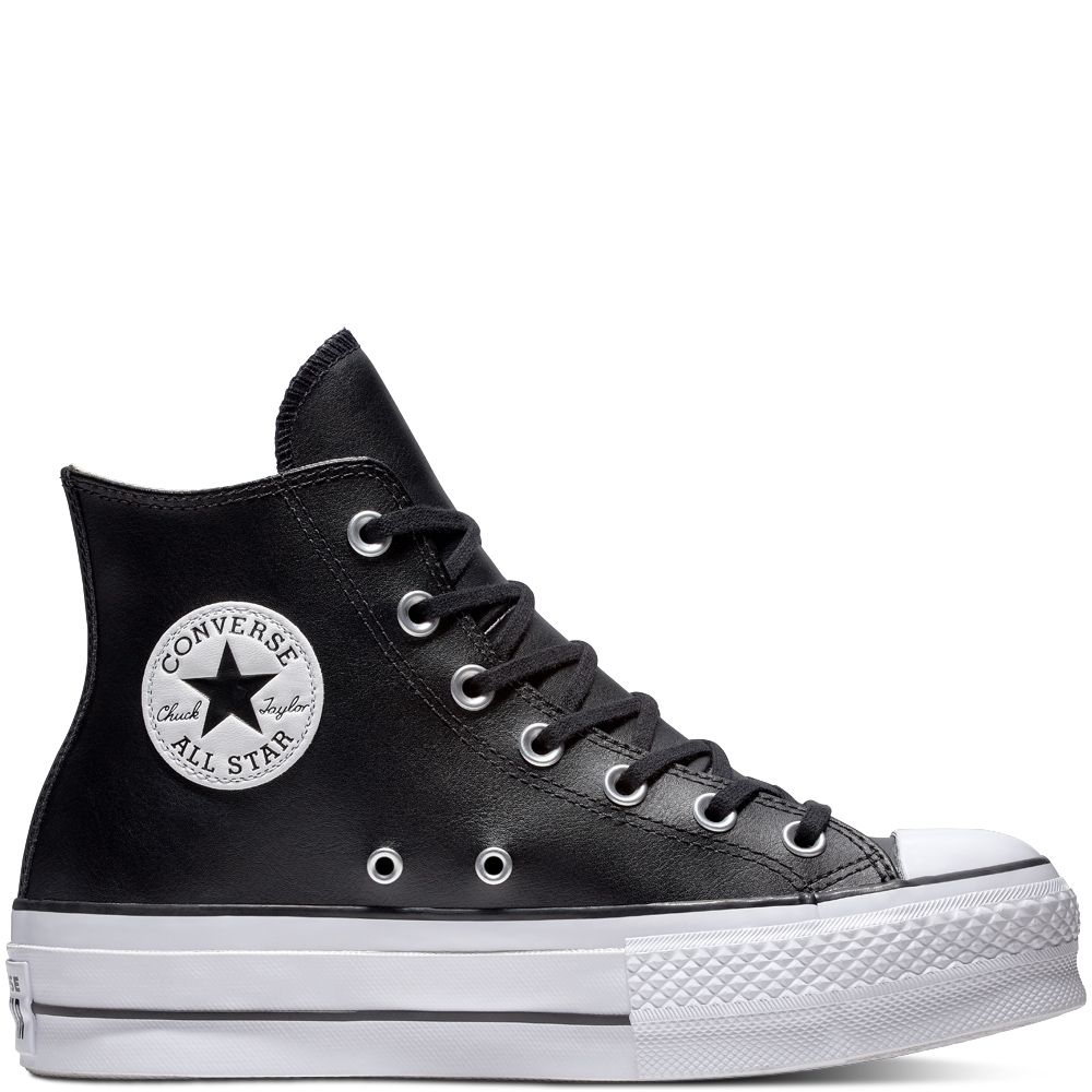 Chuck Taylor All Star Lift Leather High Top | S H O E S in ...