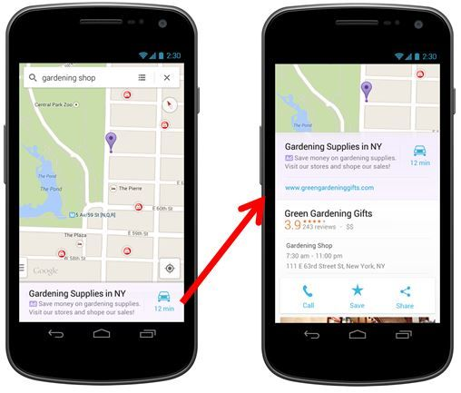 New Local Ad View (And AdWords Click Type) Comes To Google ... on google maps maps, google maps android, google map us rivers, google maps app,