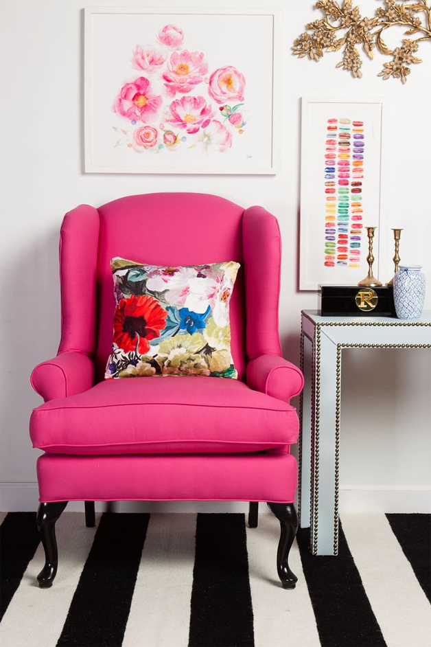 Blue and White Monday: Art | Pink chairs, Room and Bedrooms