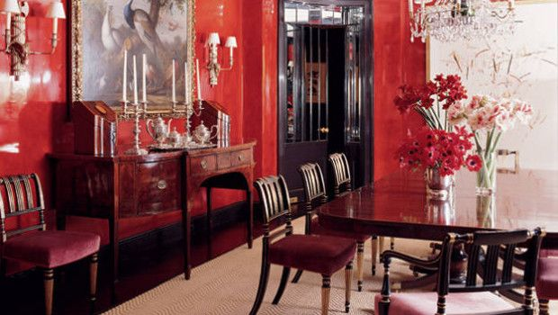 Red Dining Room Accessories: Elegant Poppy Red Dining Room- February 2013 Color Of The