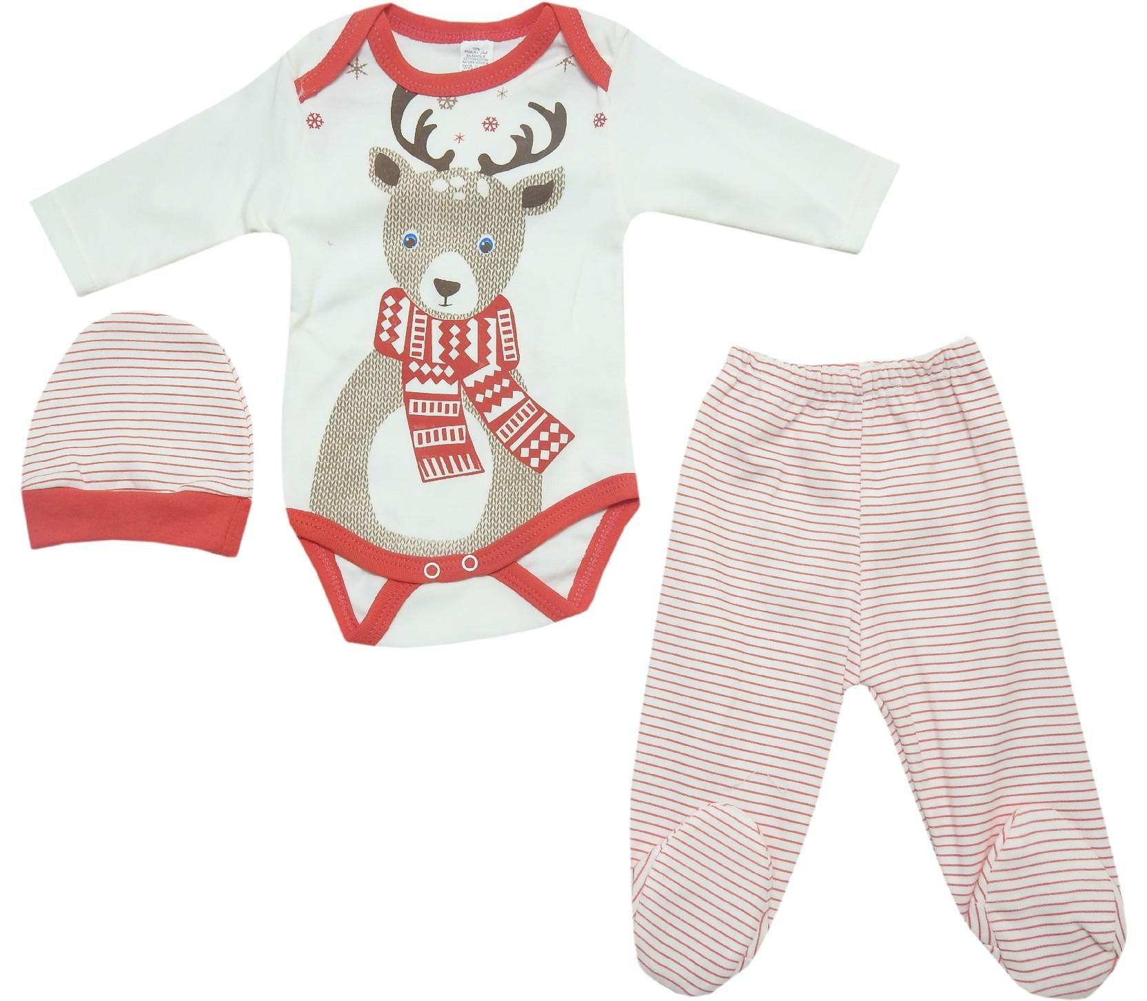 537 wholesale deer printed newborn set for baby 6 9 12 month