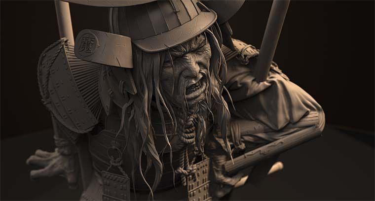 Pixologic ZBrush Gallery: Samurai Warriors