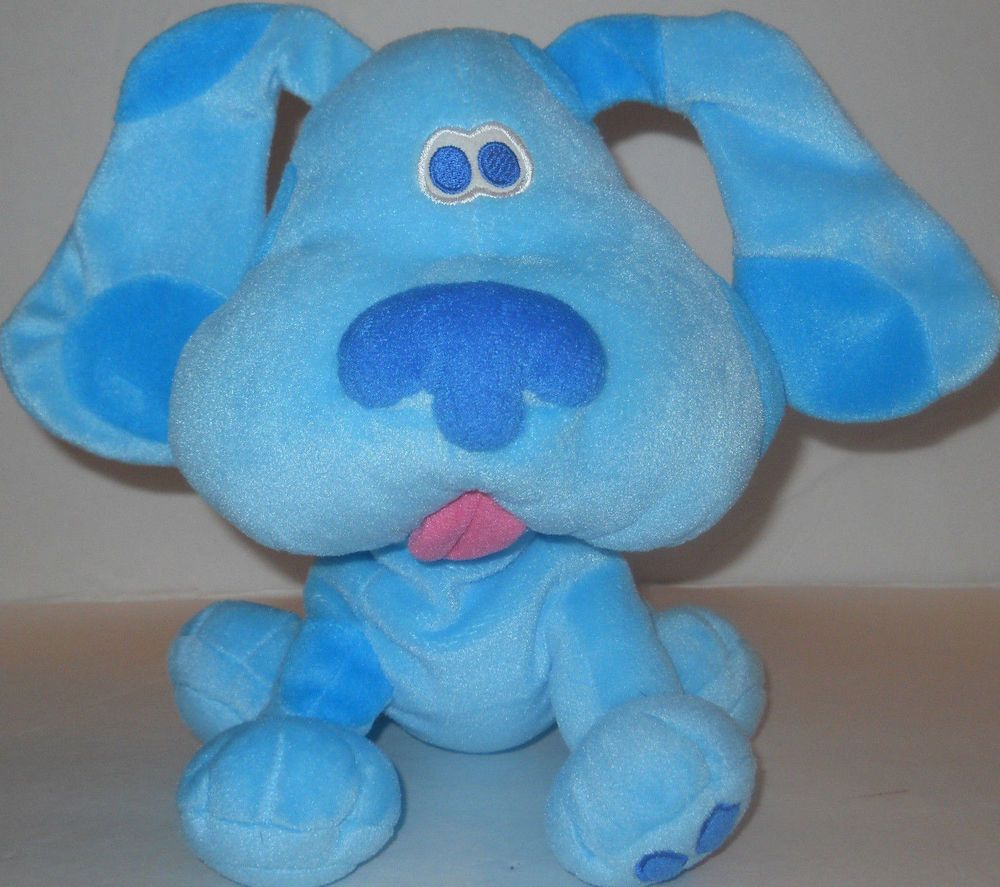 "SOLD!! Blue Puppy Blues Clues Plush Stuffed Dog 11"" 1998 Nickelodeon Soft Nose Sewn Eye #Nickelodeon"