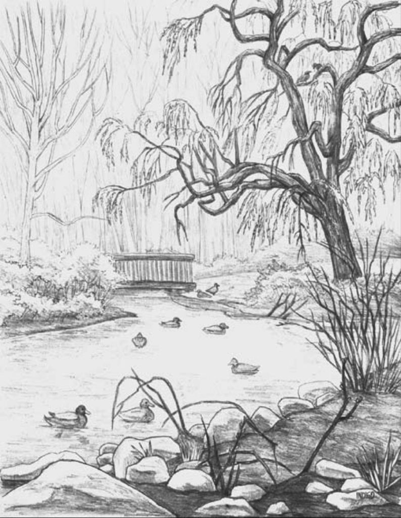 easy landscape drawings landscape sketching for beginners