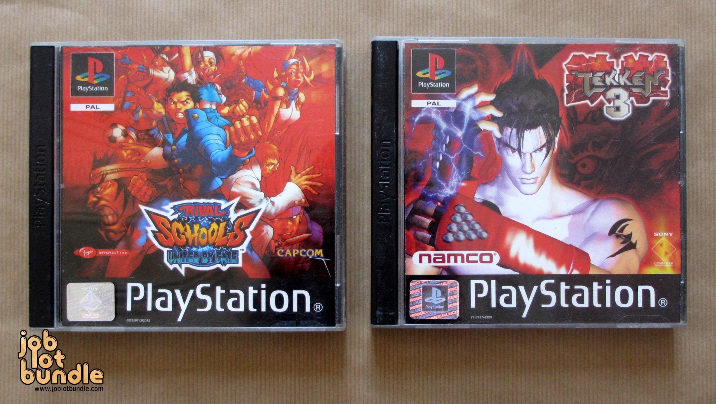 Classic Playstation 1 Fighter Bundle Rival Schools Ps1 Tekken 3