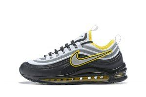 Mens Nike Air Max 97 Ultra 17 SE Running Shoes Black Yellow Grey White  924452 023 b1f59d861