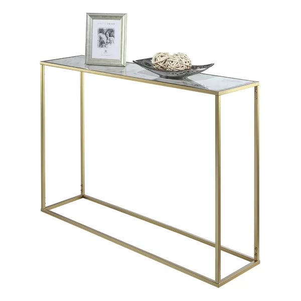 Kline Console Table Finish Antique Brass Vozeli Com