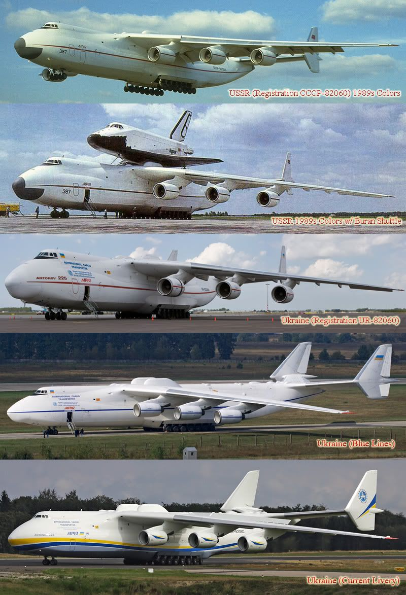 Antonov An 225 Mriya Over The Years Passenger Aircraft Cargo
