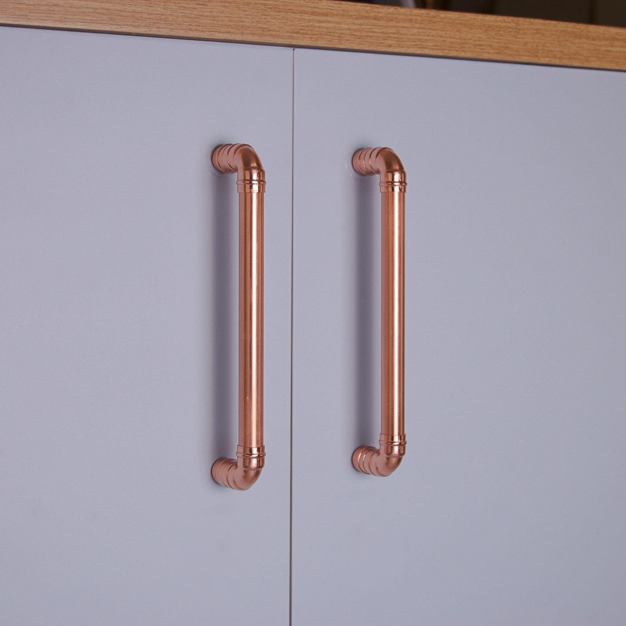 Quirkhub Copper Handles In 2020 Copper Handles Kitchen Door Handles Copper Kitchen