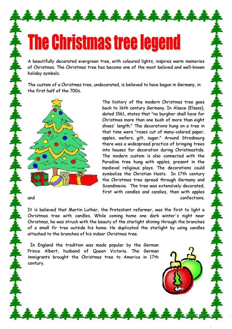 Christmas Tree Christmas Reading Comprehension Christmas Reading Christmas Worksheets [ 1079 x 763 Pixel ]