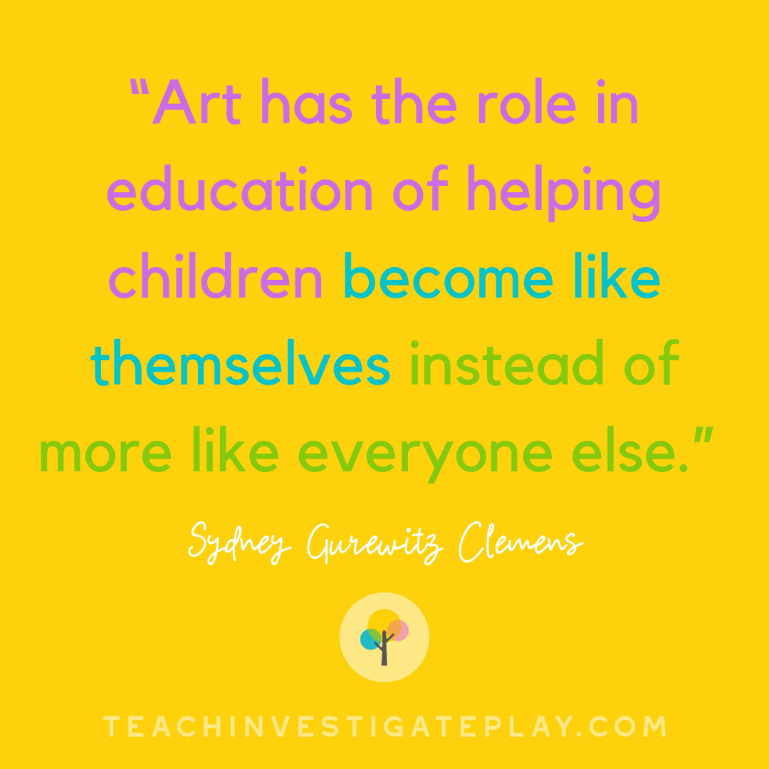 """""""Art has the role in education of helping children"""