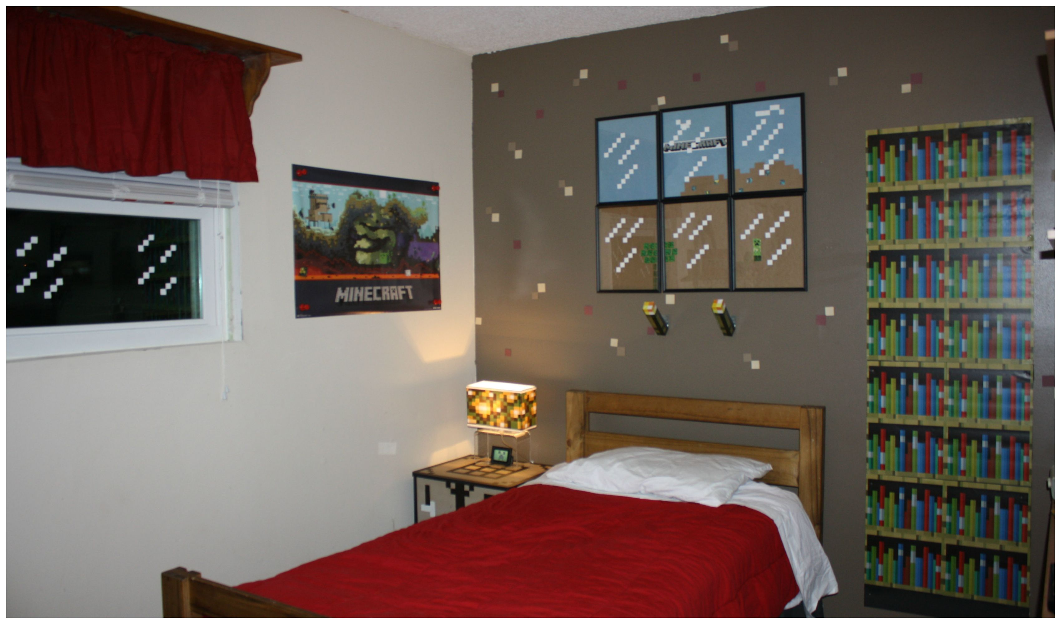 The Most Awesome Minecraft Bedroom Makeover Minecraft Bedroom