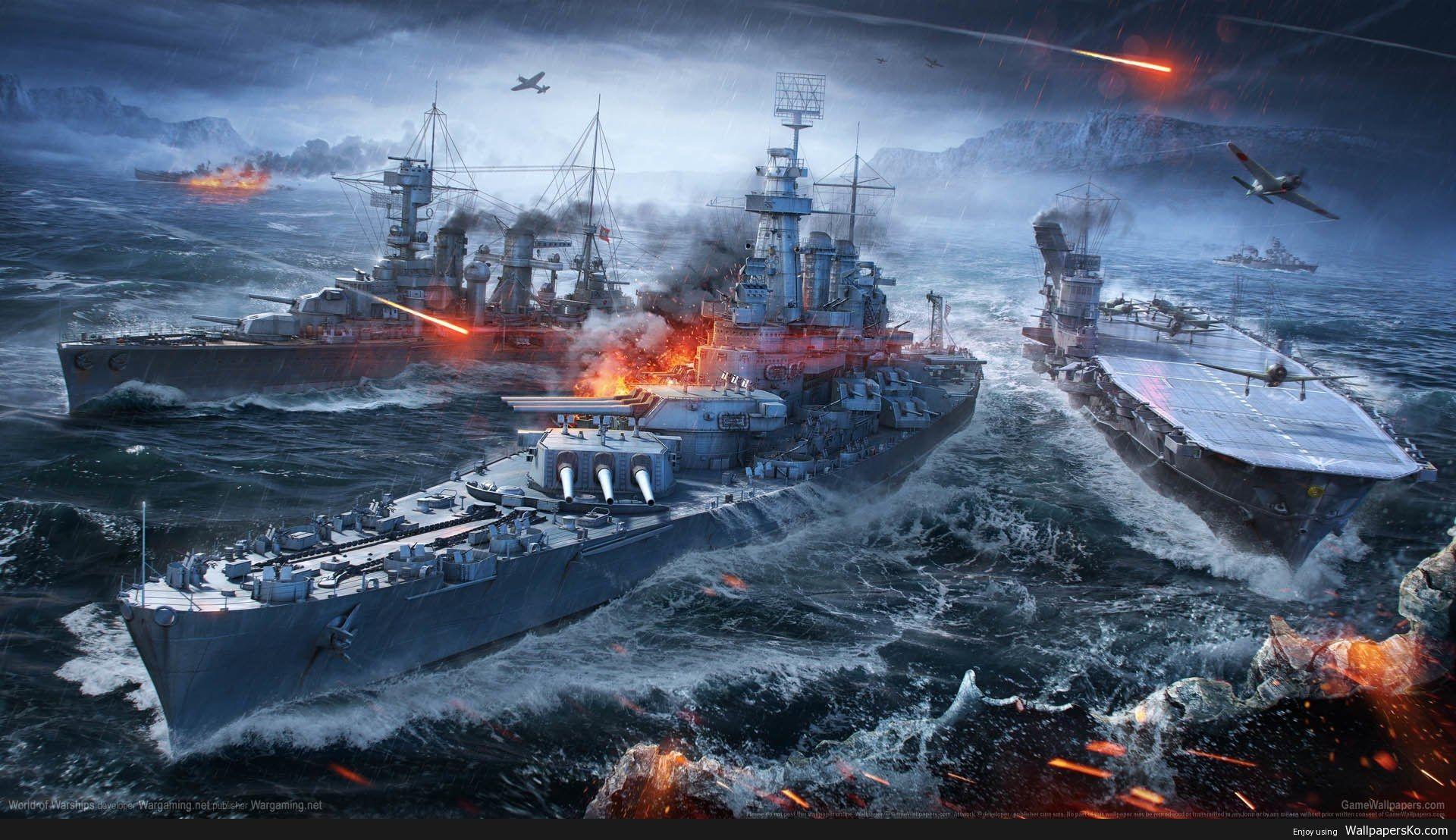 World Of Warships Wallpaper Http Wallpapersko Com World Of Warships Wallpaper Html Hd Wallpapers Download World Of Warships Wallpaper Warship Battleship