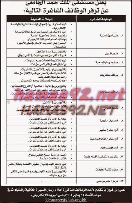 وظائف خالية مصرية وعربية وظائف خالية من جريدة الايام البحرين الخميس 08 01 2 Blog Posts Blog Ads