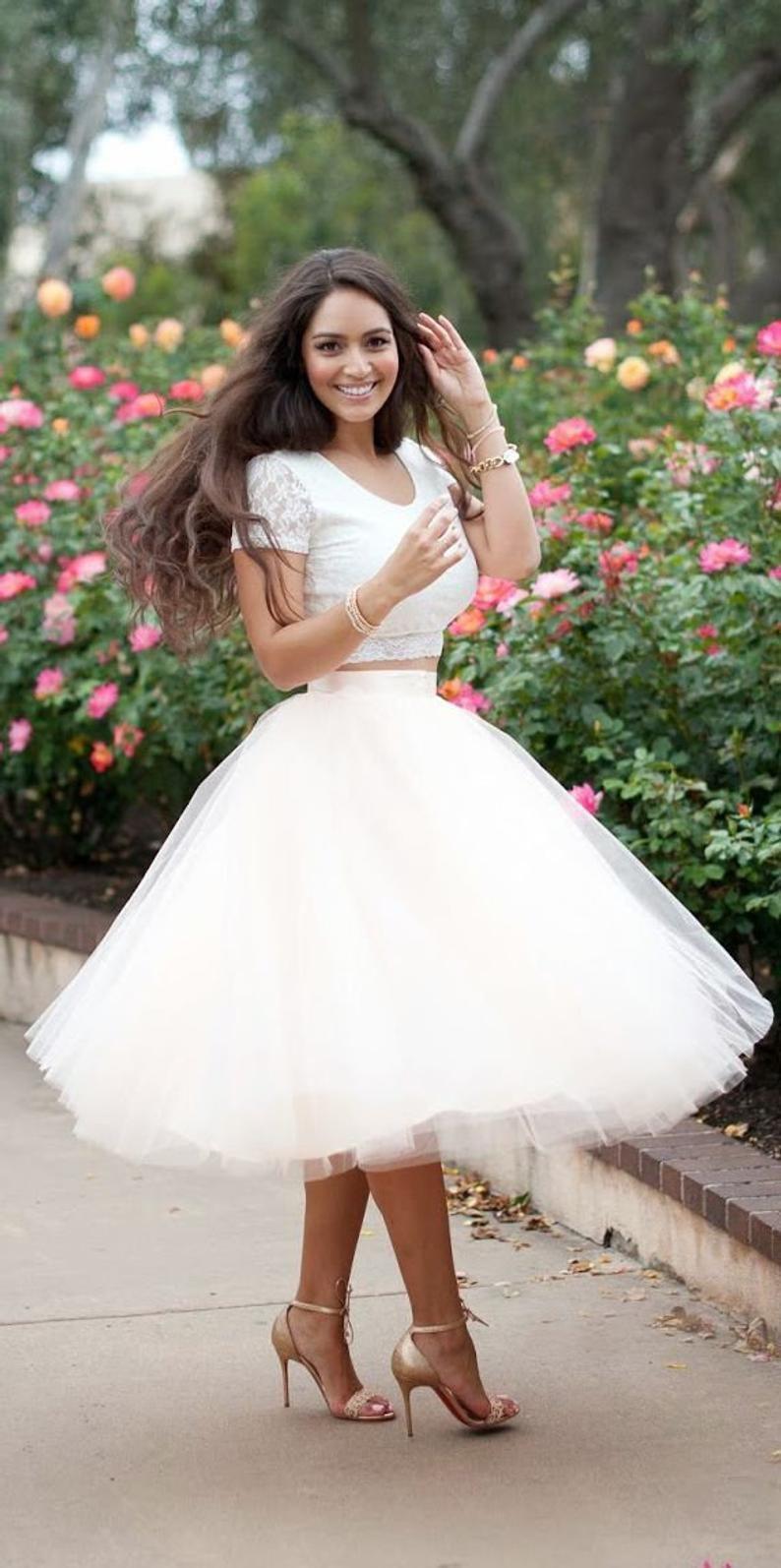 Full Skirt Wedding Skirt High Waisted Skirt Bridal Skirt Ballet Tutu Tutu Skirt For Women Tulle Wedding Skirt White Tulle Skirt In 2020 Prom Dresses Short Tea Length Prom Dress Prom Dresses Two Piece [ 1594 x 794 Pixel ]