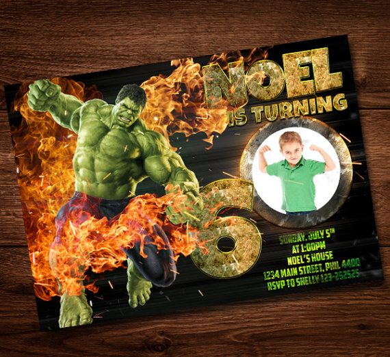 Dianaprintart I Will Do For You Birthday Invitation Any Theme For 10 On Fiverr Com Birthday Invitations Kids Birthday Party Invitations Hulk Birthday Parties