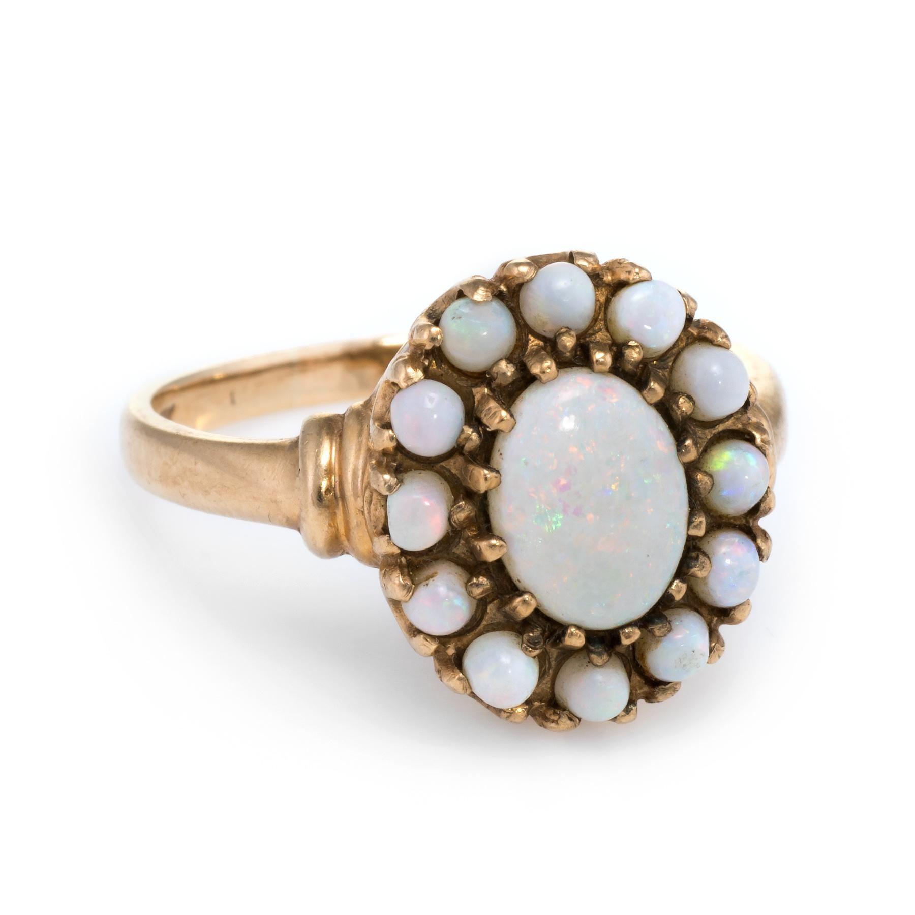 Opal Princess Ring Vintage 10k Yellow Gold Estate Fine Jewelry Pre