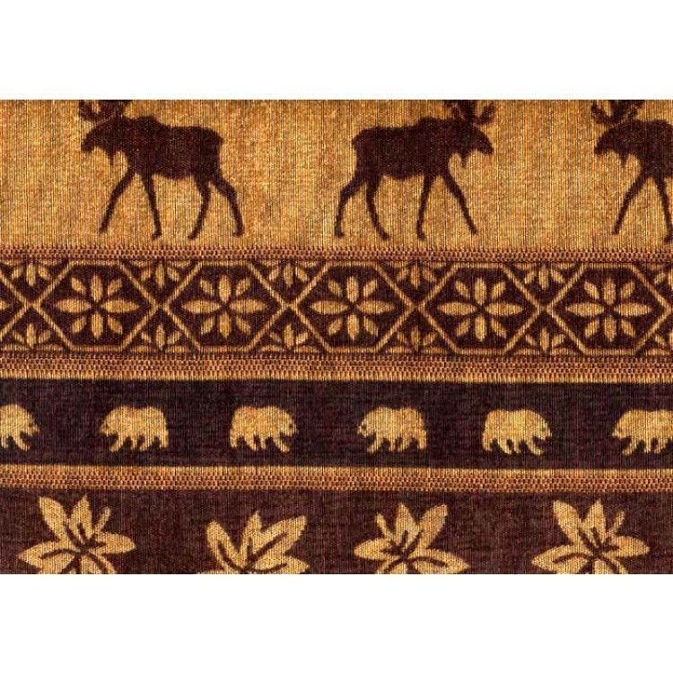 MOOSE UPHOLSTERY FABRIC MOUNTAIN LODGE CABIN RUSTIC