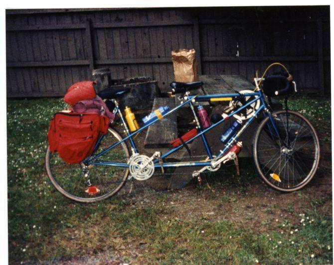 Gitane Tandem Bike Loaded For A Ride Bicycling Pinterest