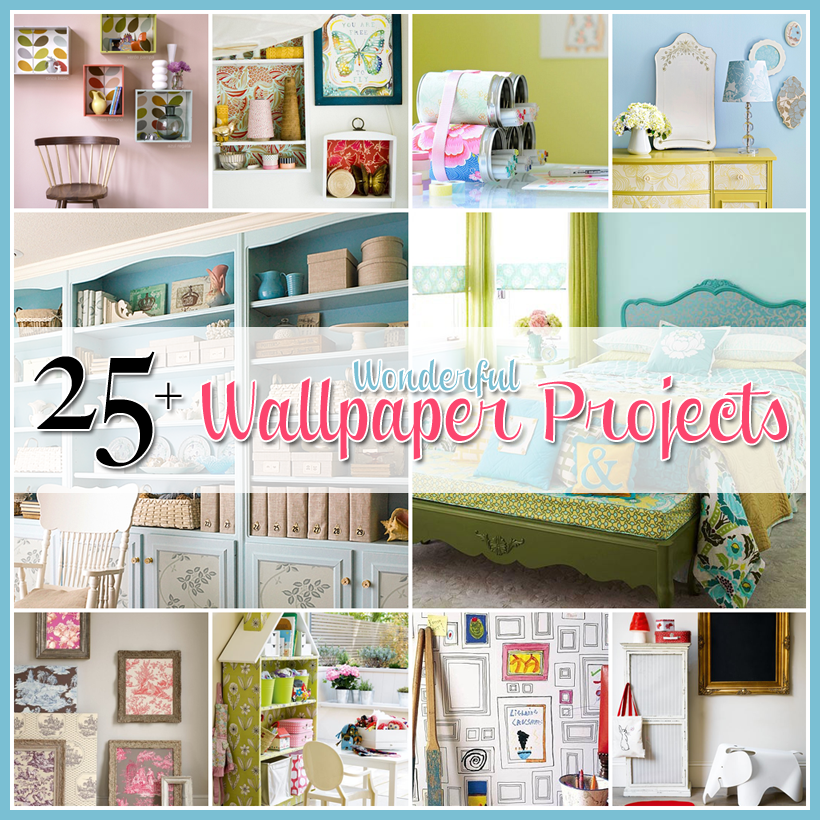 25 Wonderful Wallpaper Projects Diy Wallpaper Crafts Diy