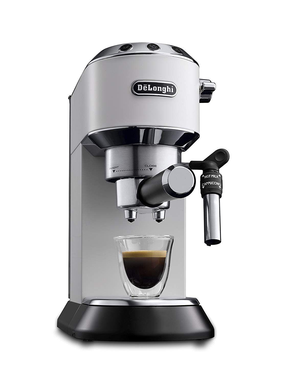 delonghi dedica ec 685 wei espresso siebtr germaschine 15 bar professionelle milchschaum. Black Bedroom Furniture Sets. Home Design Ideas
