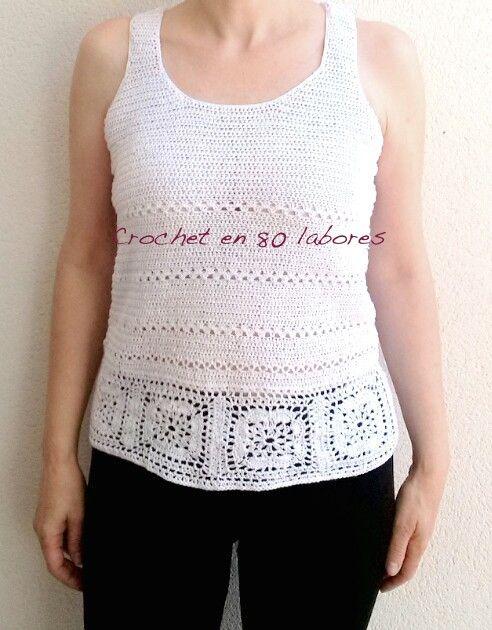 Crochet en 80 labores: Patrón de una camiseta de ganchillo | Ropa ...