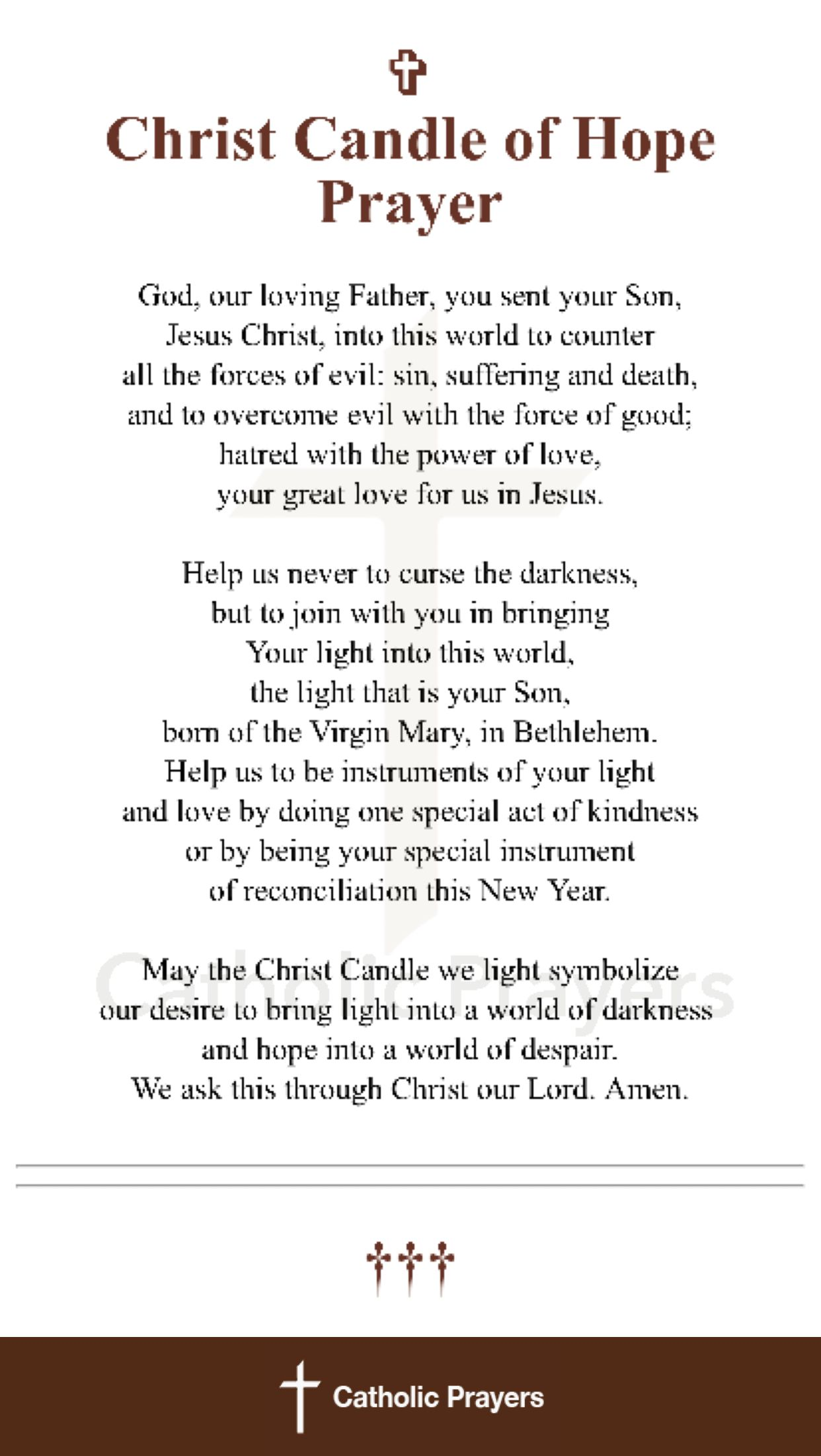 Christ candle of hope prayer pinterest prayers christ and father