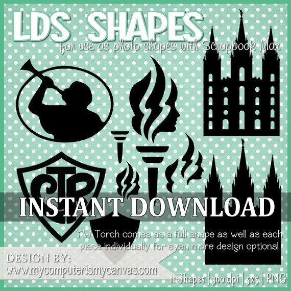 LDS, Young Women, CTR & Temple Shapes - Digital PNG Images ...
