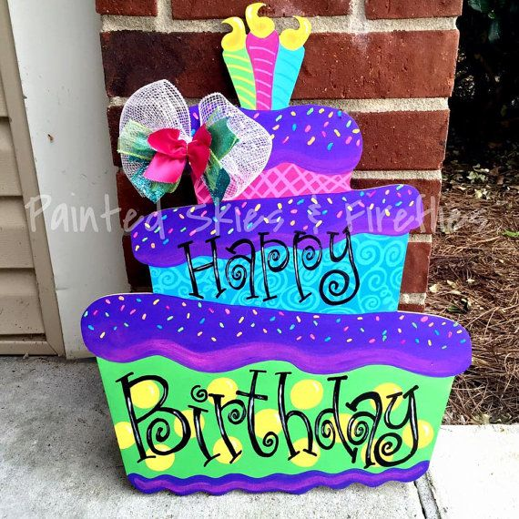 DIY Birthday Cake Door Hanger See More On Our Facebook And