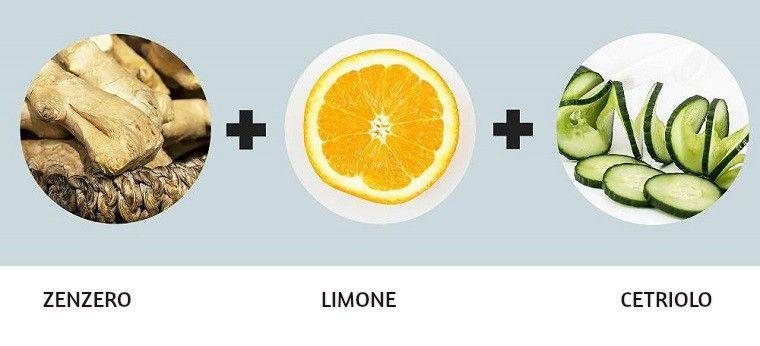 acqua con limone e cetriolo per bruciare i grassi