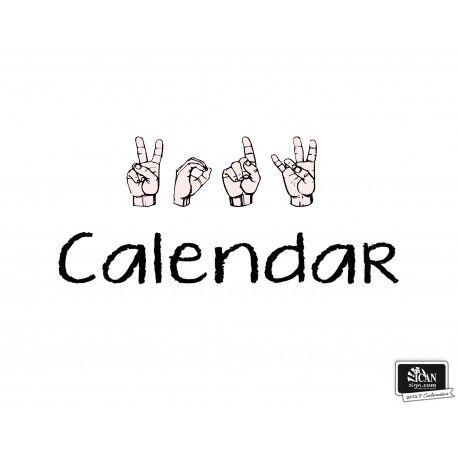 Printable Asl Calendar 2015 Calendar Calendar 2017 Calendar 2015