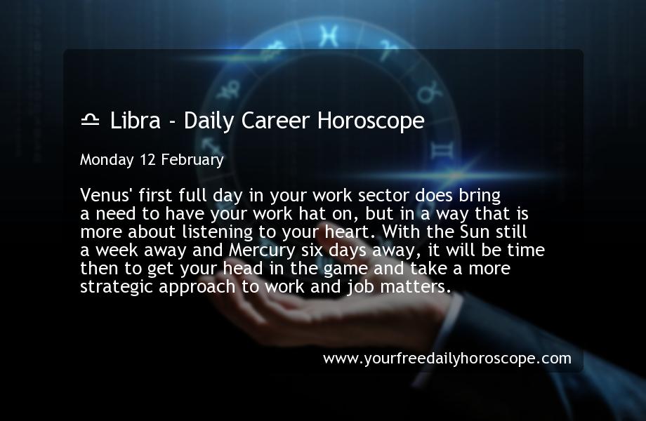 libra daily career horoscope