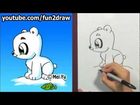 Baby Polar Bear Drawing Viedo Polar Bear Drawing Bear Drawing Baby Polar Bears