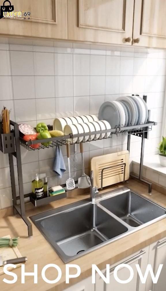 Photo of Space Saving Dish Rack | Over Sink Dish Drying Rack