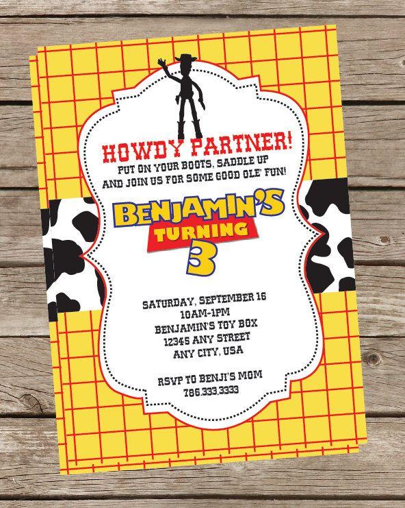 Invitación Toy Story Cumpleaños De Woody Fiesta De Toy