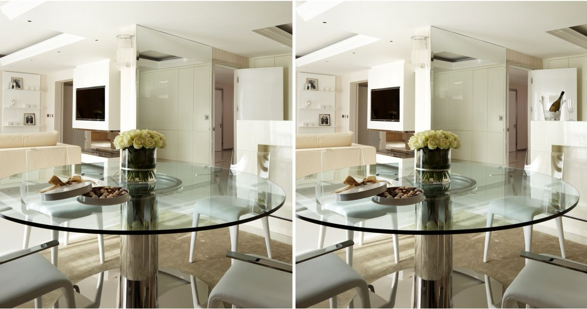 How keen is your eyesight! #SPOTTHEDIFFERNCE between the 2 dining room images.
