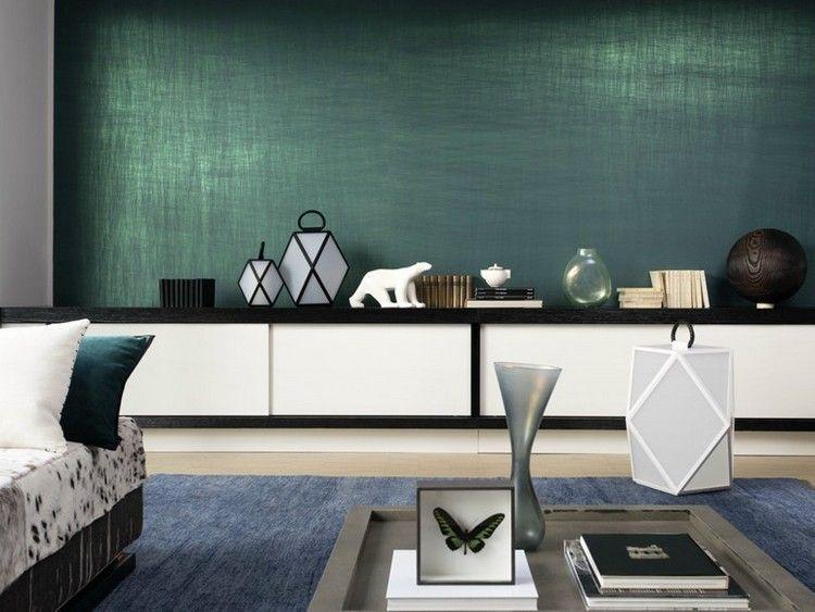 Naturfaser Wandplatten in smaragdgrün - Vega von Elitis Ideen - moderne wandgestaltung wohnzimmer