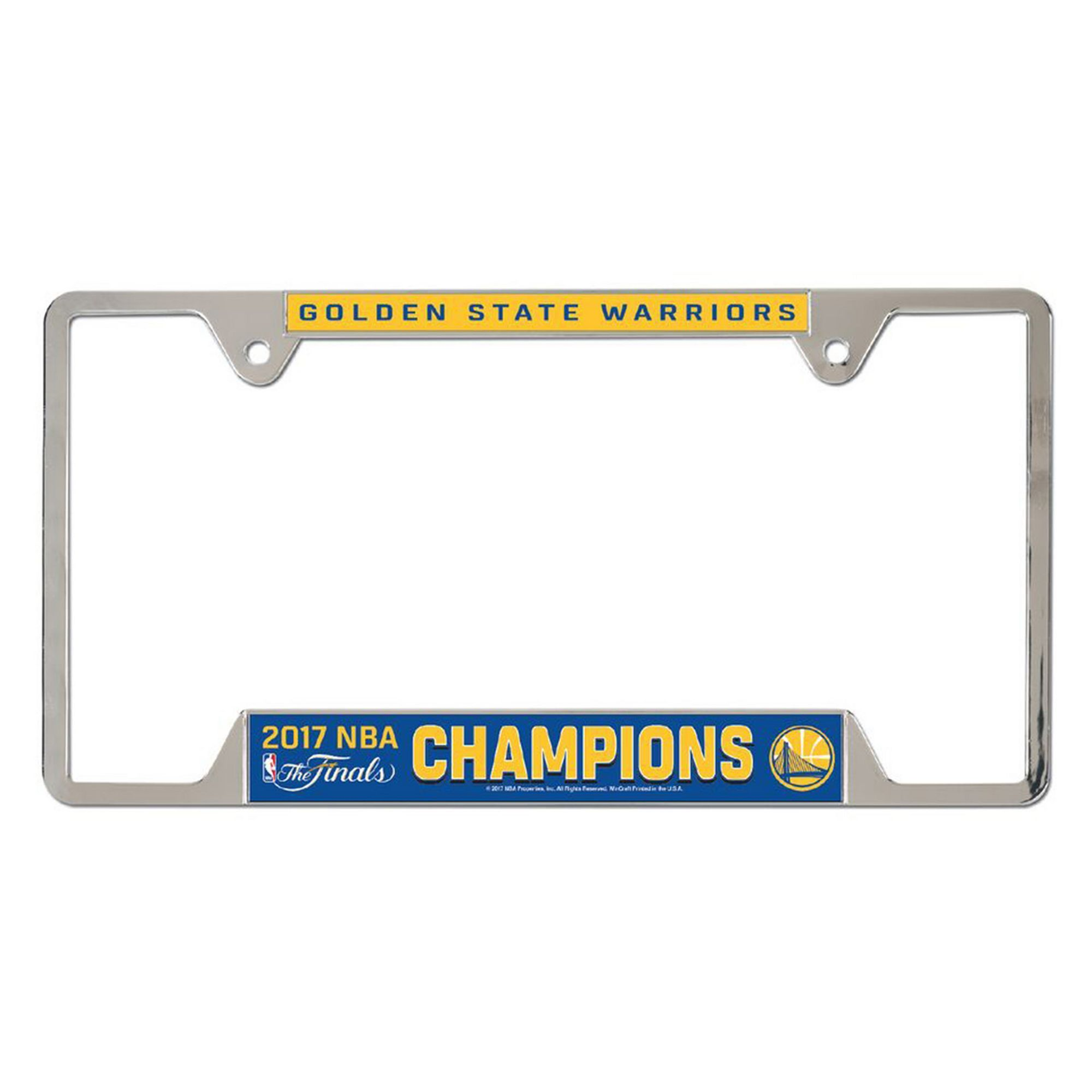 Golden State Warriors 2017 NBA Champions License Plate Frame ...