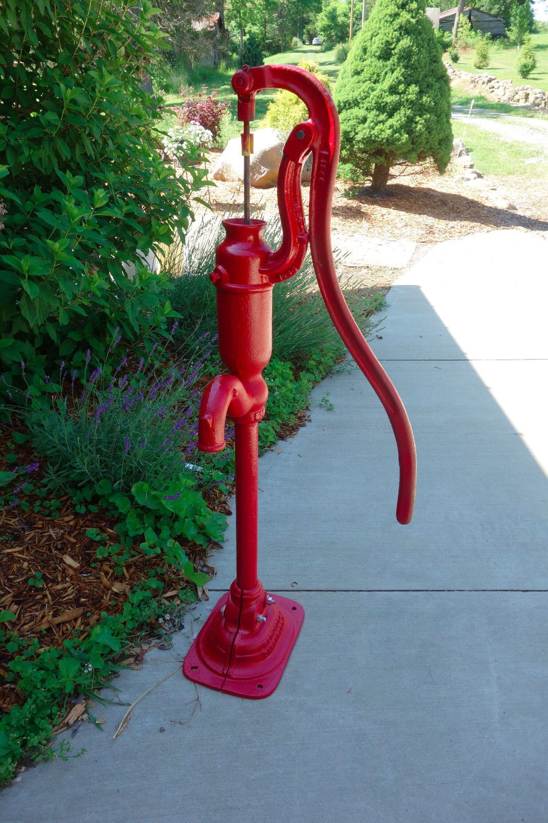 Old Vintage Red Jacket Iowa Cast Iron Farm Antique Hand Water Well Pump Water Well Hand Pump Old Water Pumps Well Pump