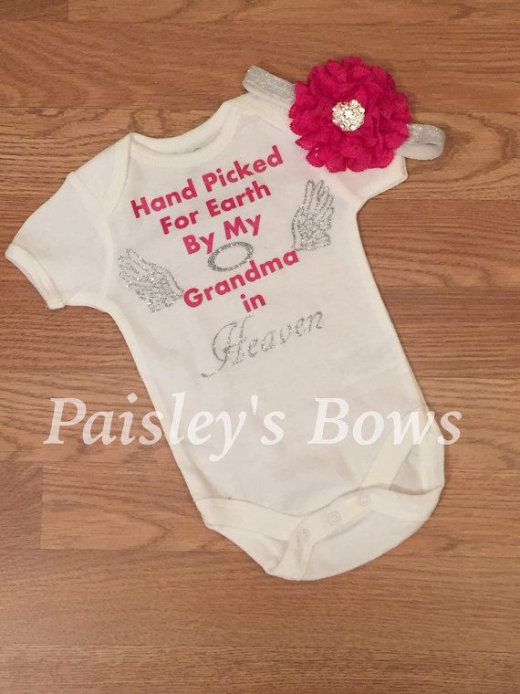 5cdd0bbfdf5d Hand picked for Earth by my Grandma in heaven by PaisleyBows | girls ...