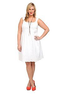 White Voile Embroidered Hem Dress | very cute