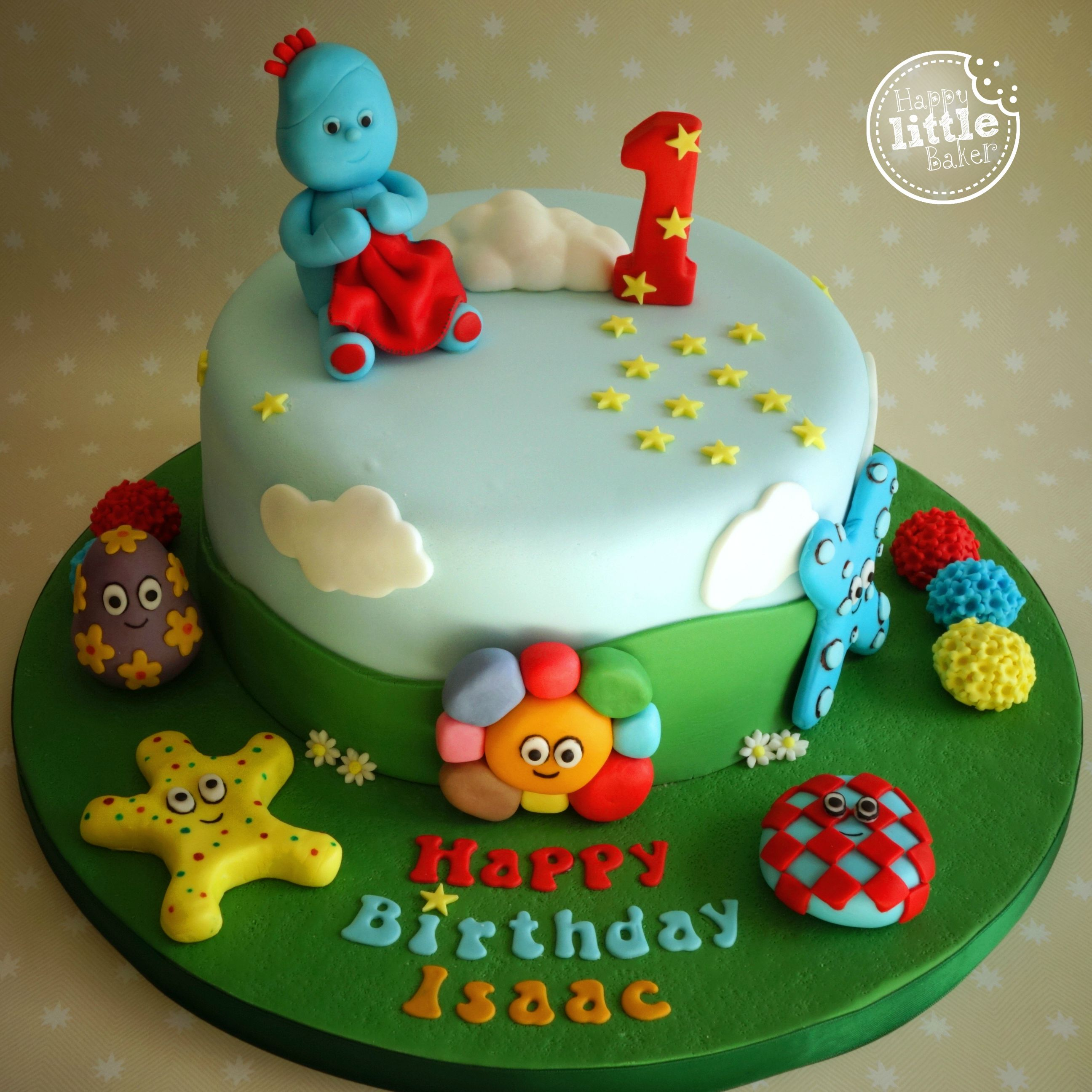 in the night garden cake chocolate sponge with vanilla