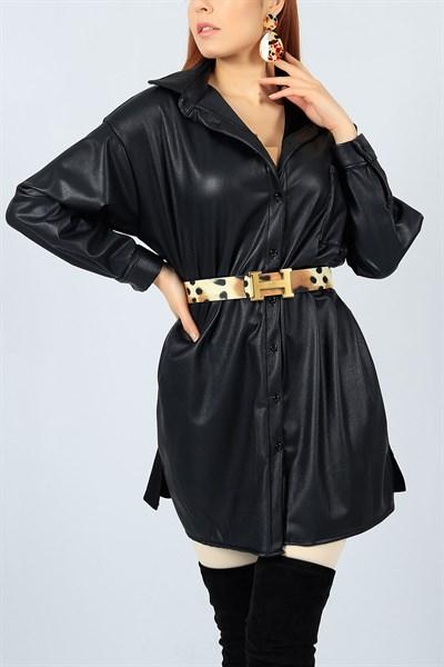 22774 Turkiye Nin En Hesapli Bayan Giyim Sitesi Modamizbir Com Siyah Deri Giyim Gomlek