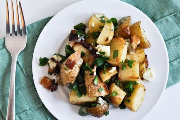 Roasted Potatoes with Bacon! Delicious. http://blog.yummly.com/blog/2013/11/creative-potato-dishes-worthy-of-thanksgiving-dinner/