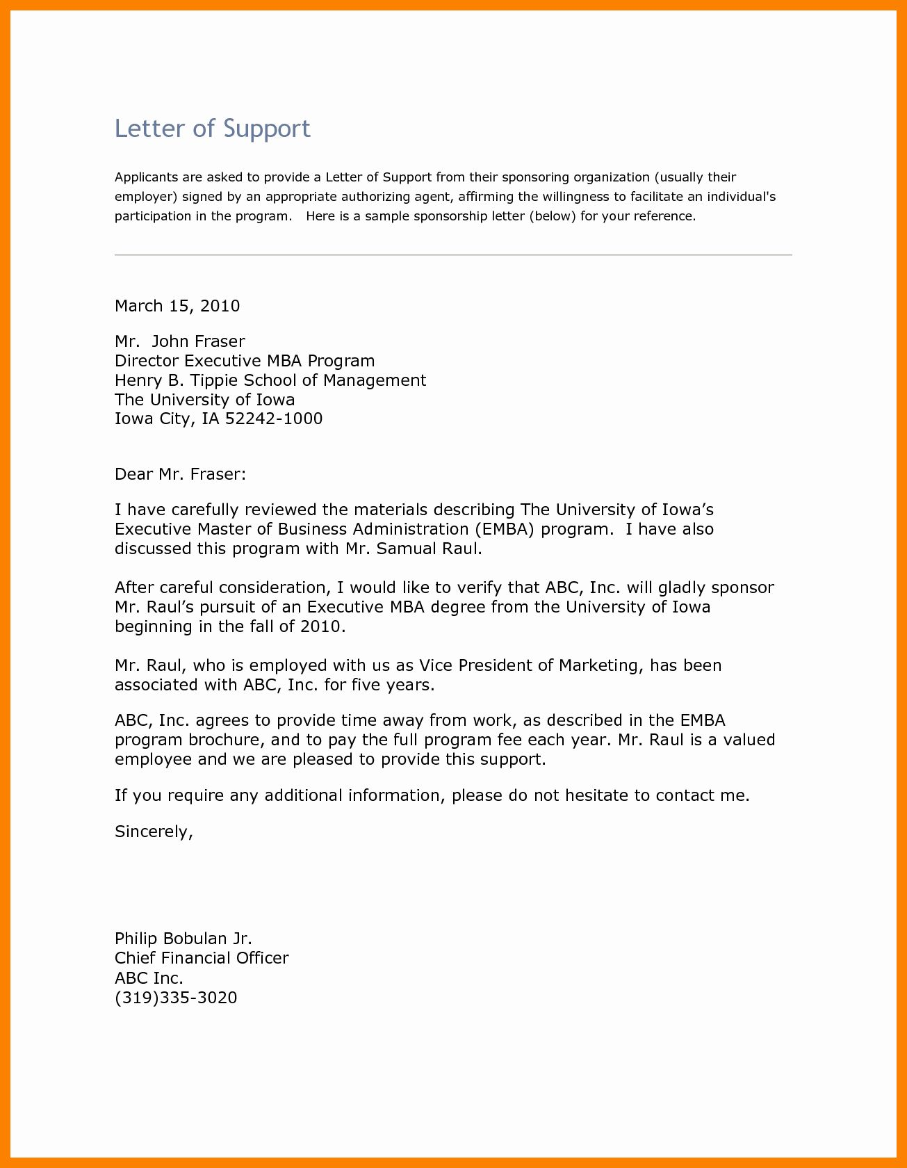 Letter Of for Mba Luxury Letter Of Re