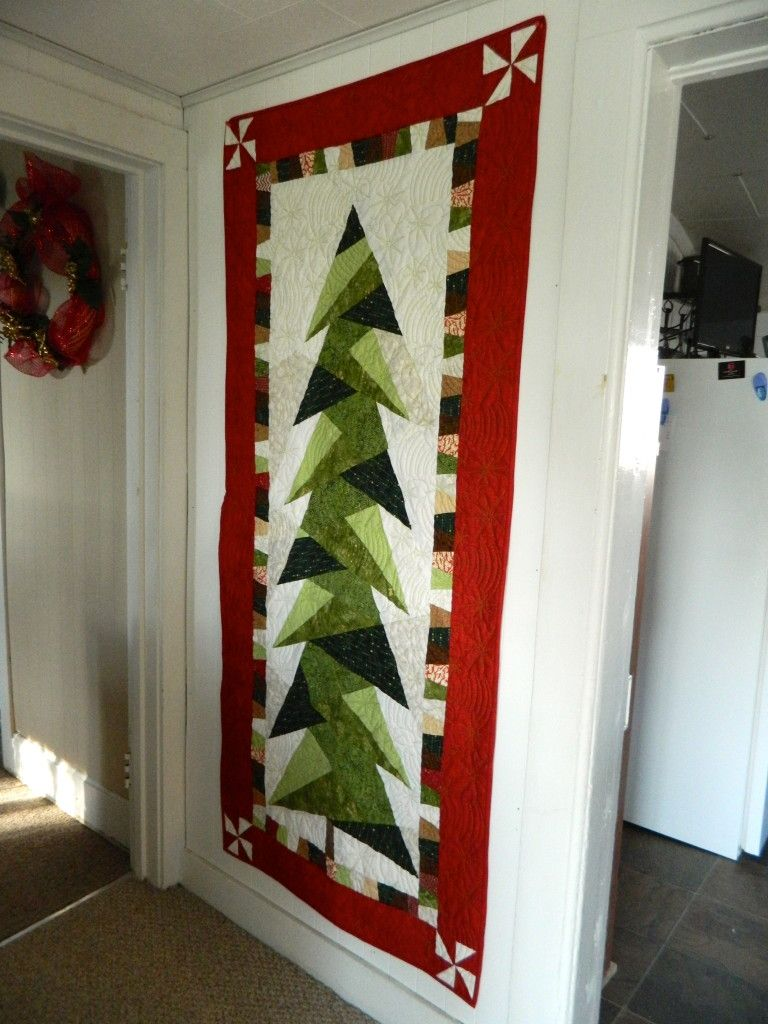 Quilt Nähen Tall Christmas Tree Quilt Dscn7928 | Christmas Tree Quilt