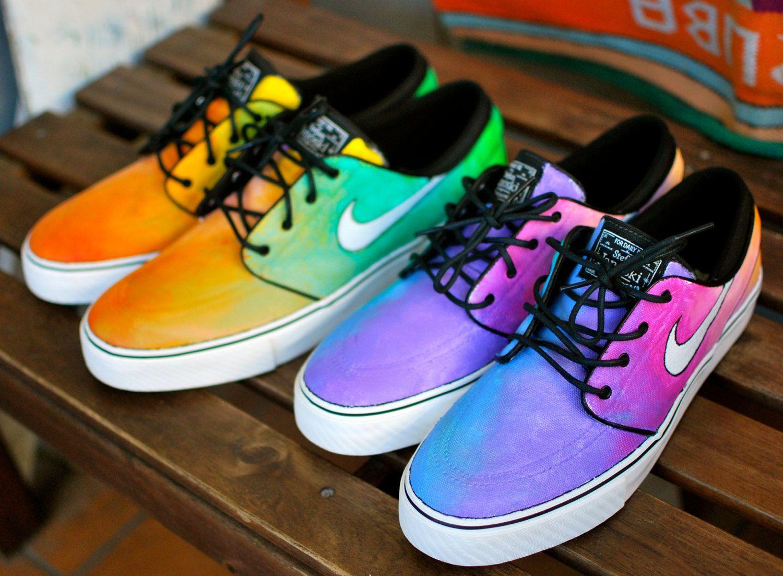 Skate shoes types - Tie Dye Nike Zoom Stefan Janoski Skate Shoes